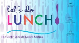 Lets do Lunch !! Online Colorful Lunch Invitation Card