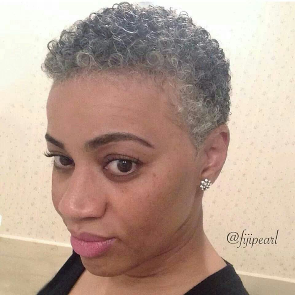 cute grey twa; i follow her& love her!! | gray chic in 2019