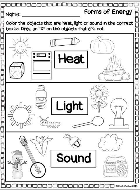 forms of energy heat light and sound color the picture printable students will color the. Black Bedroom Furniture Sets. Home Design Ideas