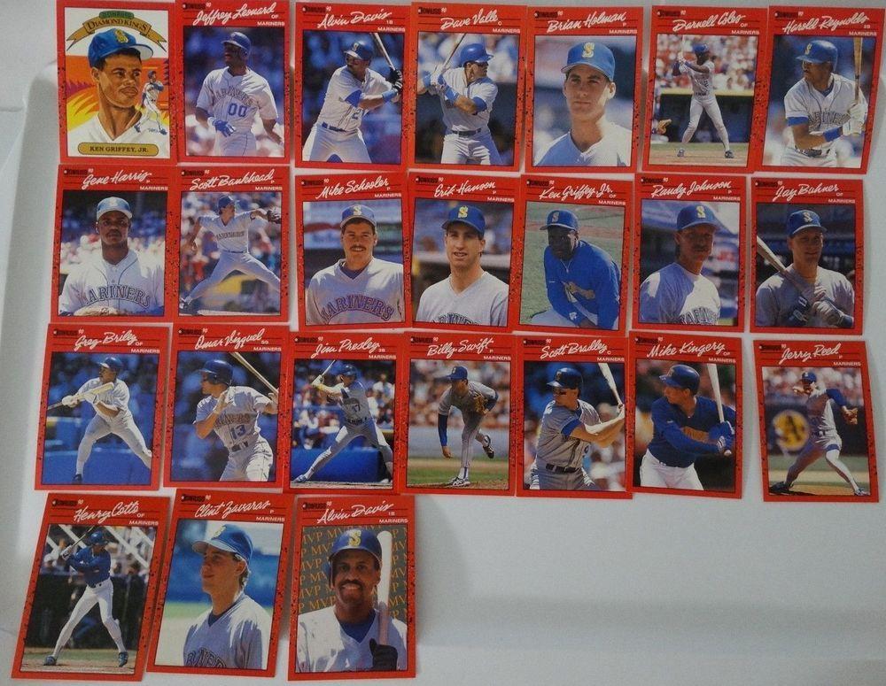 1990 donruss seattle mariners team set of 24 baseball