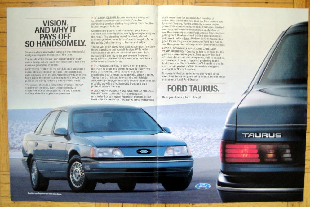 1987 Ford Taurus 4 Door Sedan 3 Year Warranty Original 2 Page 13