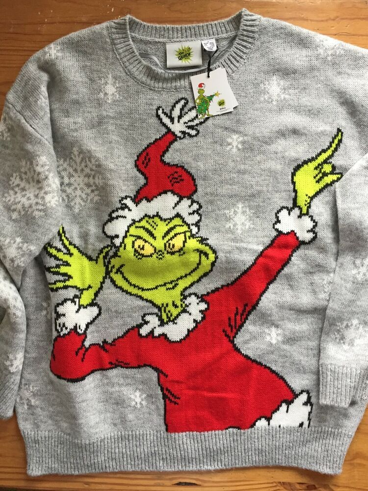 Funny Grinch Christmas Jumper, Navy, Christmas Gift, Dr