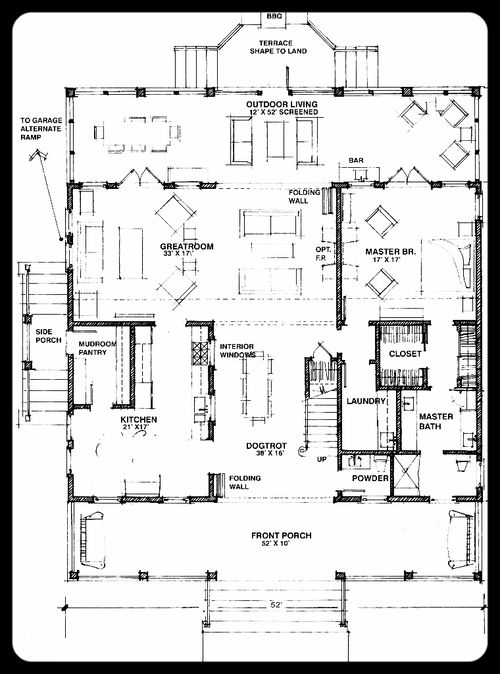 Magnolia Project Photos Details Frederick Frederick Southern House Plans Dog Trot Floor Plans Dog Trot House Plans