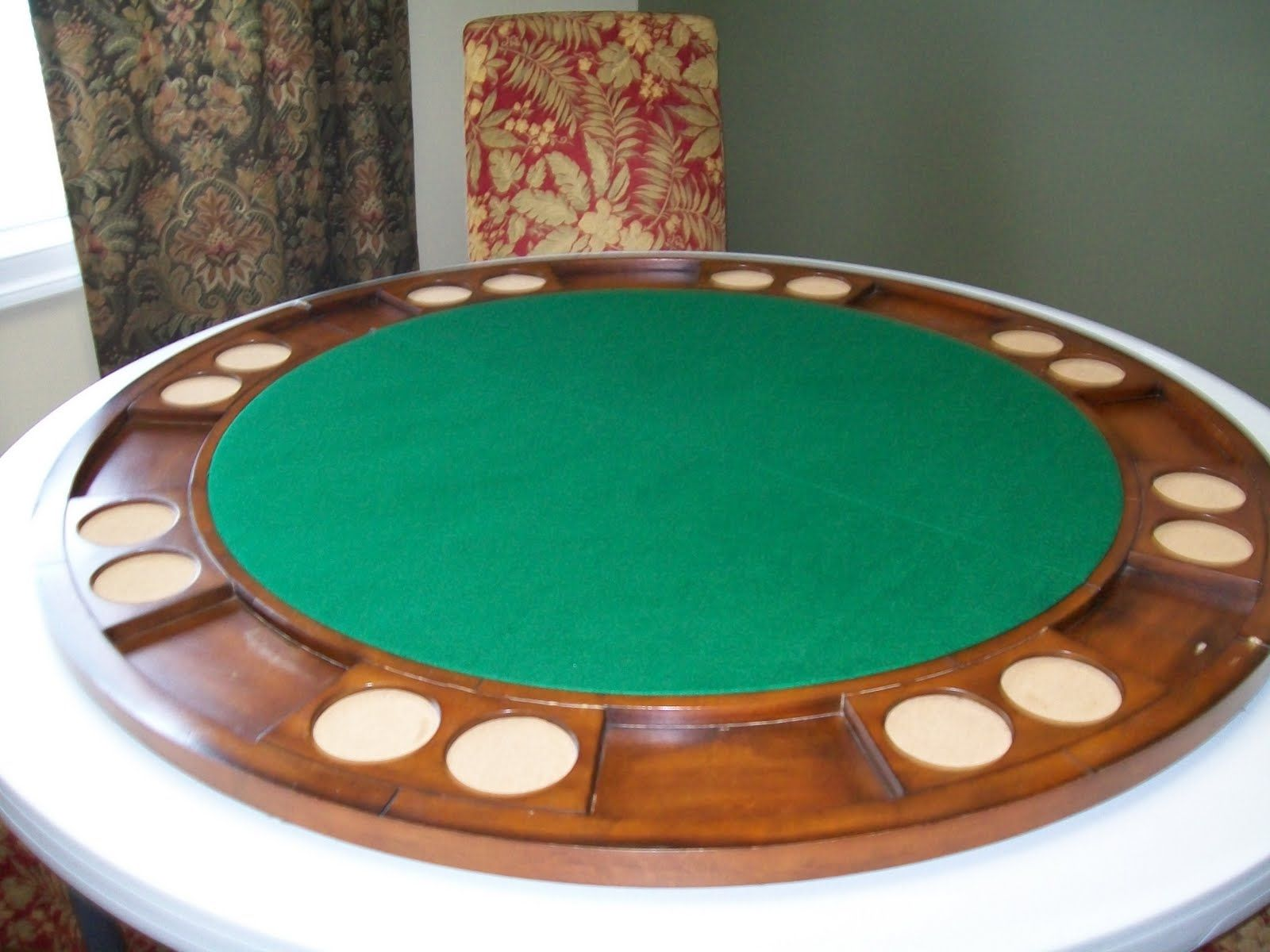 Round Folding Poker Table Top