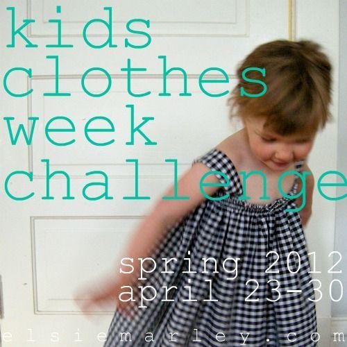 kids clothes week challenge at elsie marley!