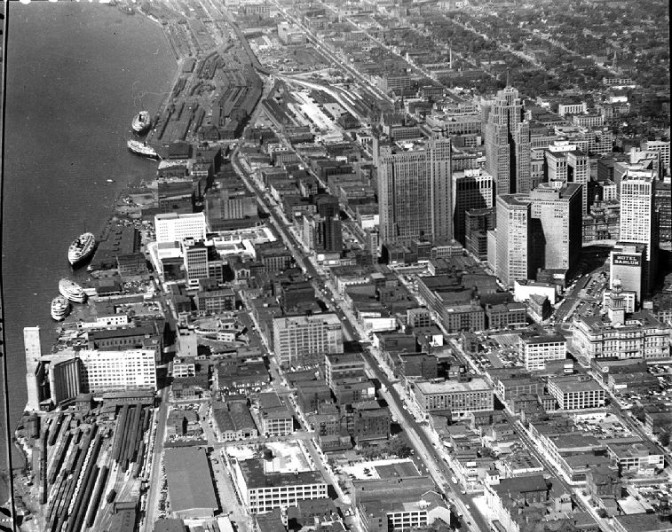 Detroit Waterfront View 1950s Places Past In 2019