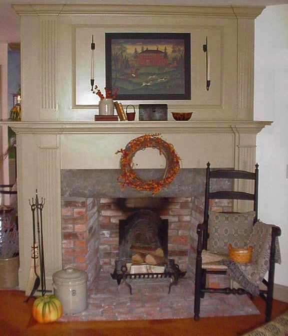 American Colonial Interiors: Classic Colonial Homes Interior Fireplace Trim