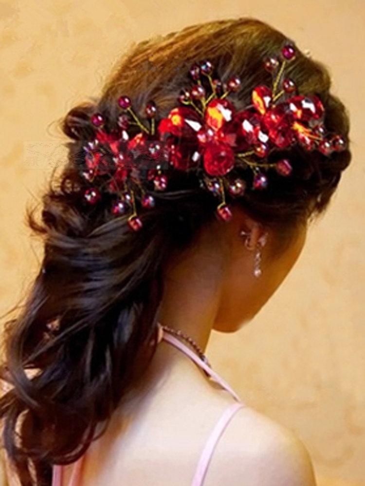 38.00$  Buy here - http://vihfk.justgood.pw/vig/item.php?t=m548ap14653 - CHD22 Handmade wire wrapped bridal wedding headpiece Chinese style headband