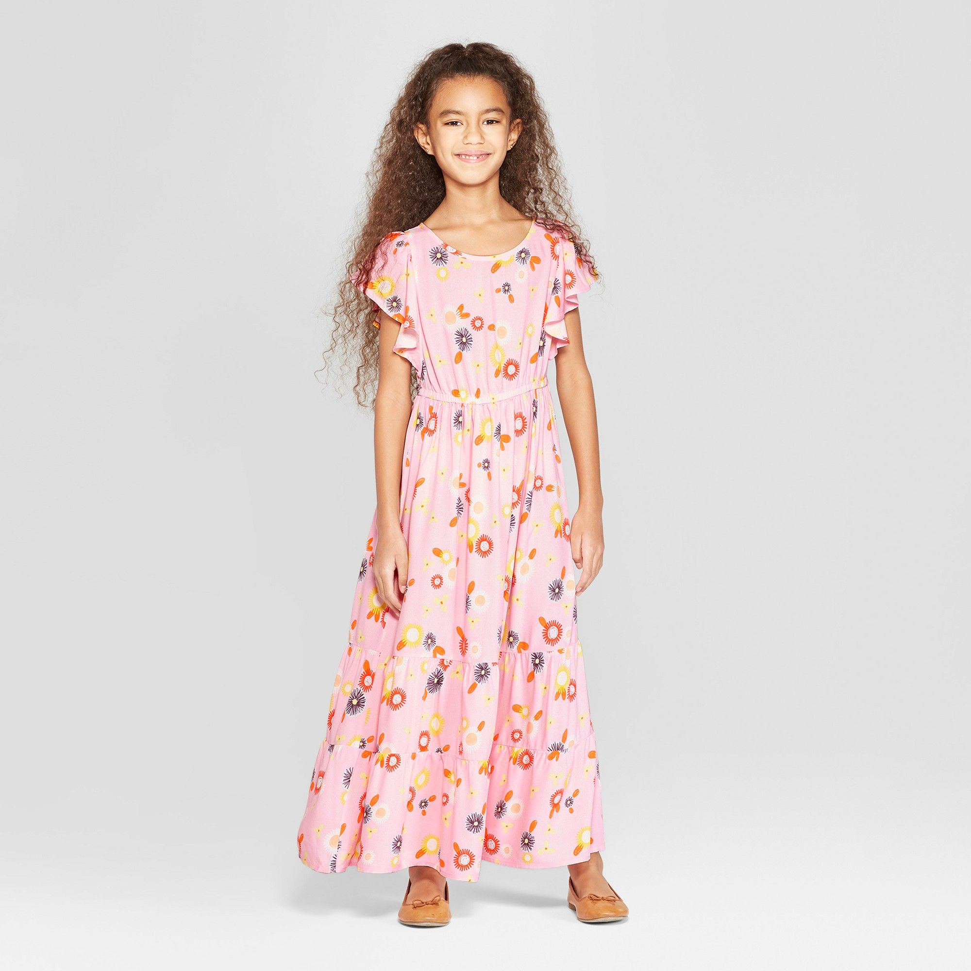 ab7699aecbe Girls  Woven Maxi Dress - Cat   Jack Pink XL in 2018