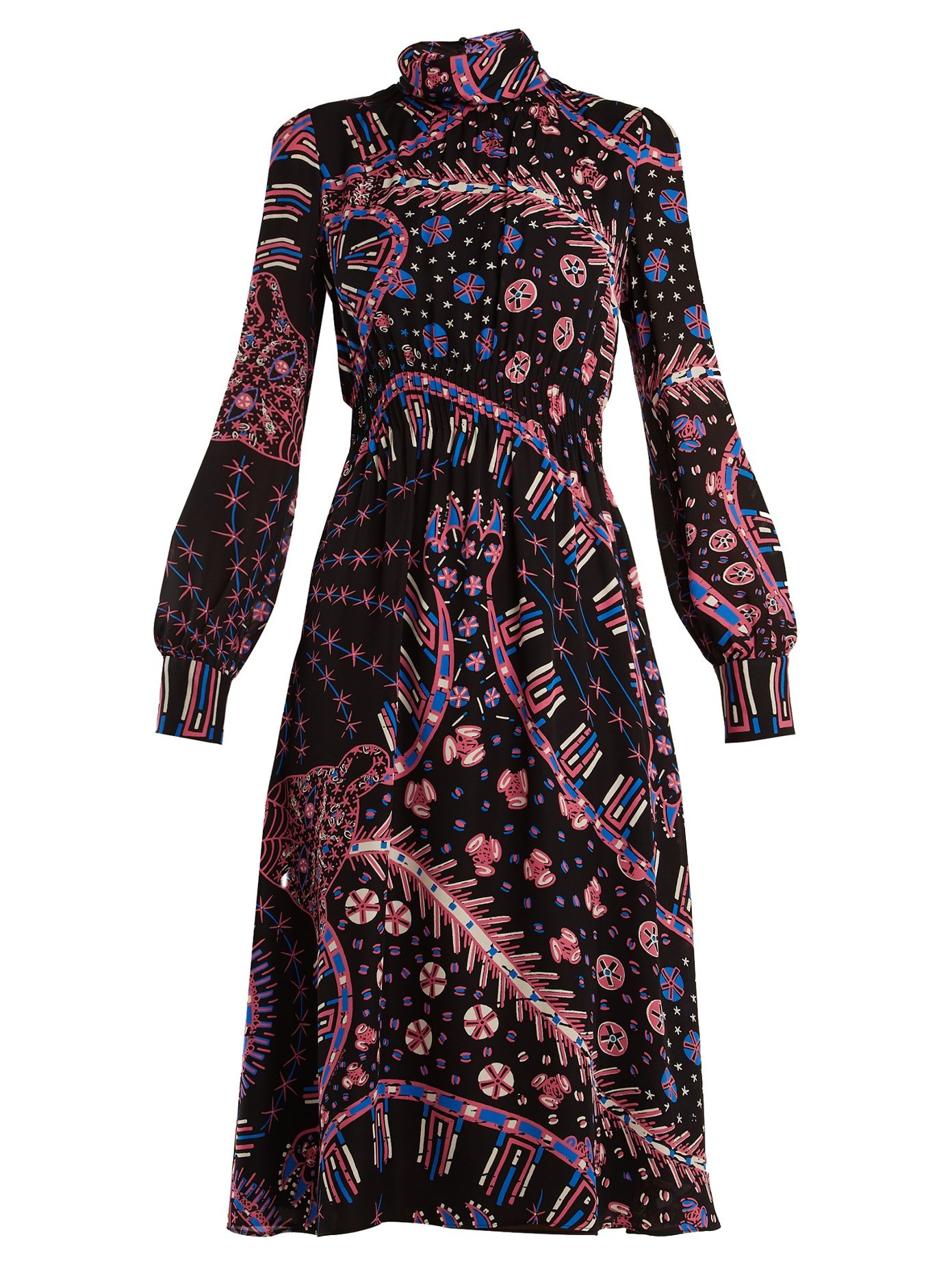 Valentino X Zandra Rhodes leopard-print dress  c7075a4e7