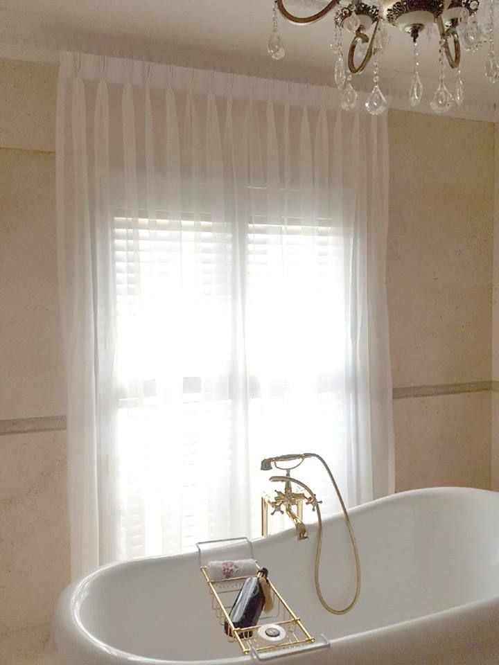 Consider Using Sheer Curtains In Your Bathroom For A True Sense Of Luxury And Beautiful Softness These Long Beside Freestanding