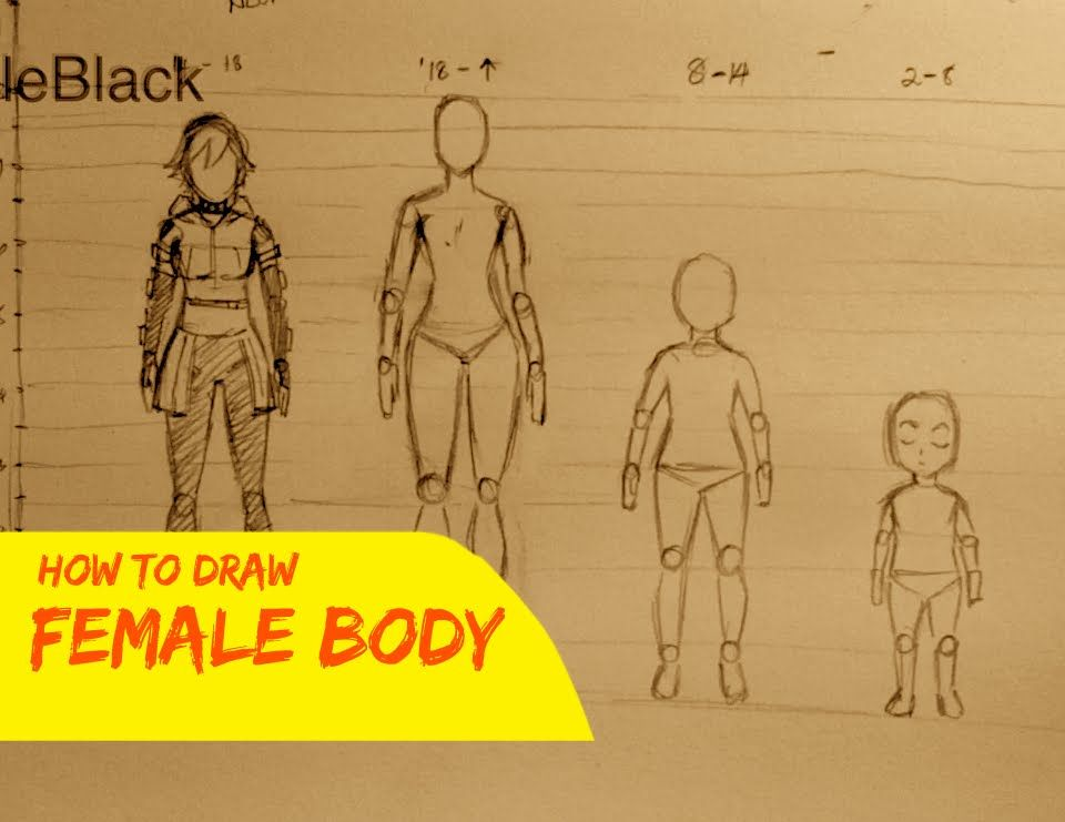 How To Draw Manga: Female Body Proportions By: Whyt Manga creator of #AppleBlack