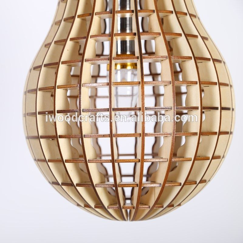 Dinning room Bulb shape wooden crafts lighting, View design craft lighting, iWood Product Details from Guangzhou iWood Crafts Co., Limited on Alibaba.com