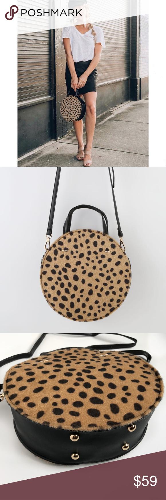 df7d038b07f8 Leopard print circle bag Leopard print circle bag. • Fuzzy