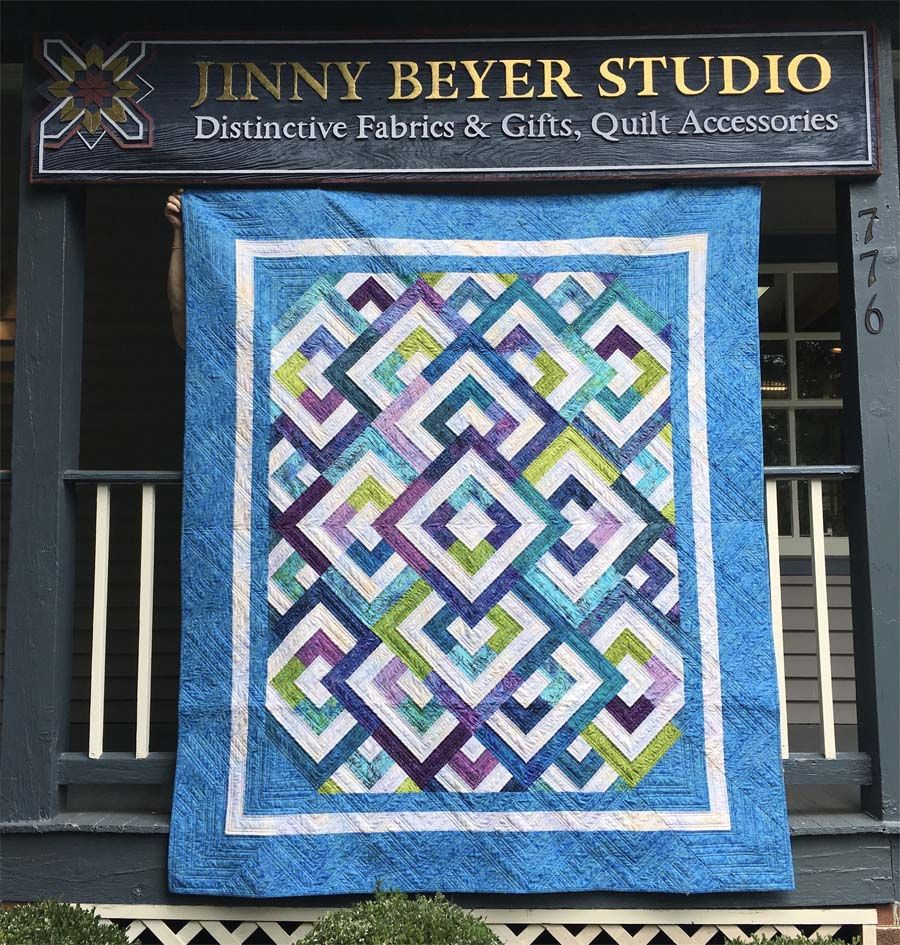 Diamond Double (Cozy Nest Quilts pattern) in Jinny Beyer fabrics ... : diamond double quilt pattern - Adamdwight.com