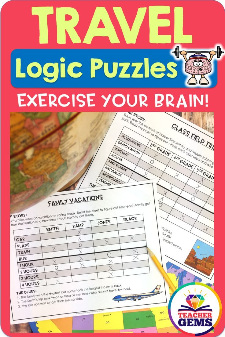 Travel Theme Logic Puzzles