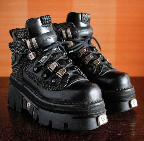 c7ad883d3dd Reserved    New Rock black platform shoes GOTH moto Grunge Clubkid ...