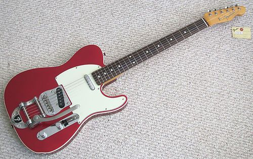 Fender Telecaster 62 Reissue W Bigsby Candy Red With Double White Binding Mint Ebay Gitarre