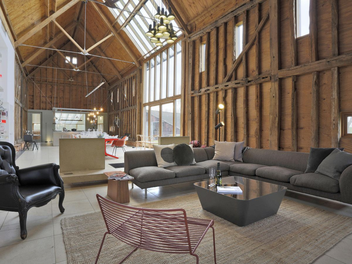The Old Barn, Chelsworth   Barn conversion interiors, Old ...