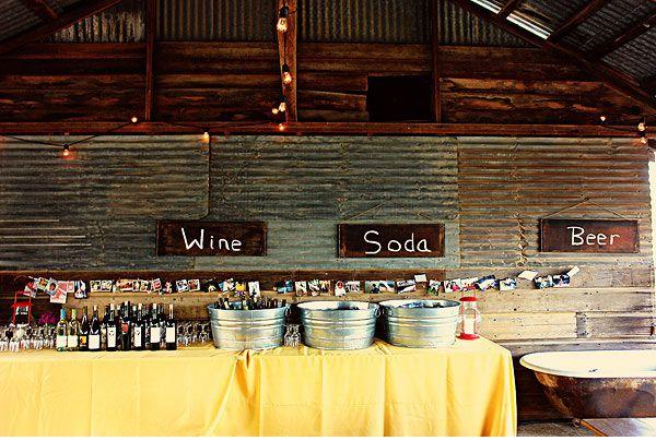 Food For Rustic Barn Wedding