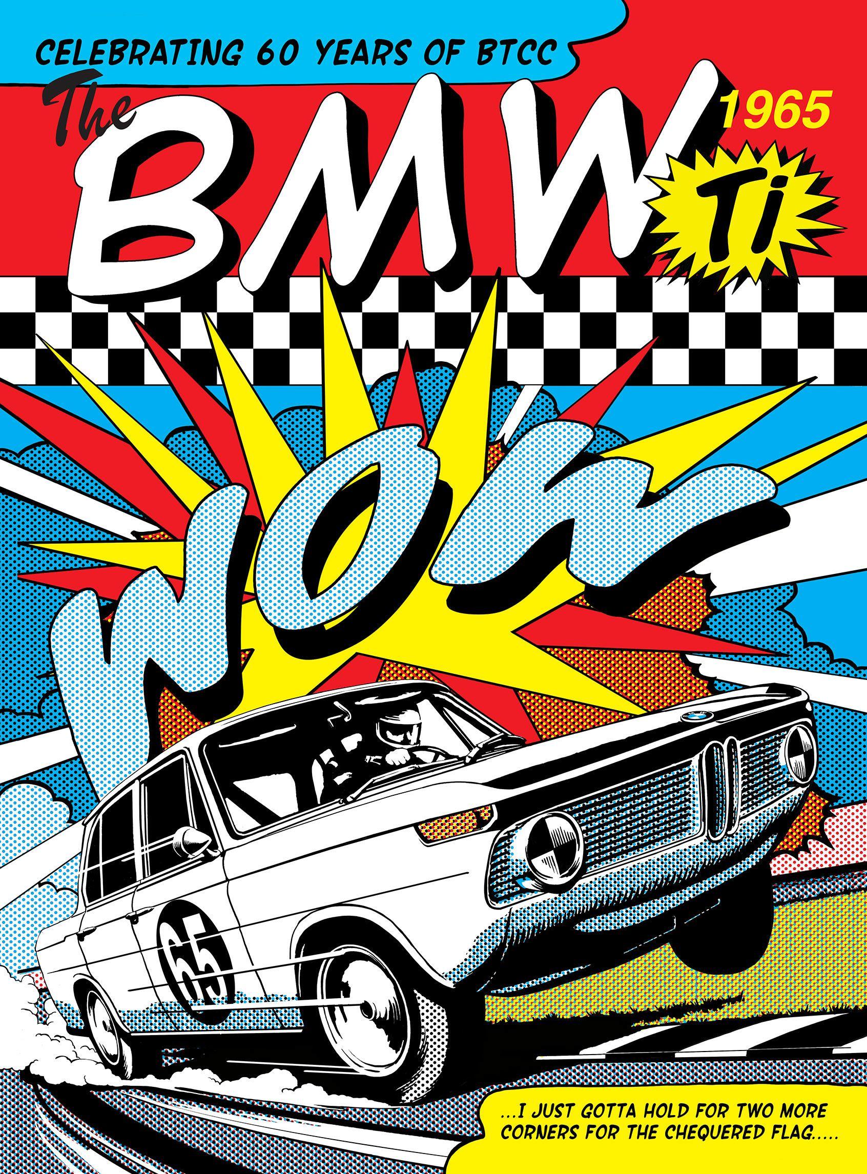 Illustration Meiklejohn Garrywalton Bmw Car Poster Travel Transport Pastiche Popart Digital Bmw Art Bmw Vintage Art Cars