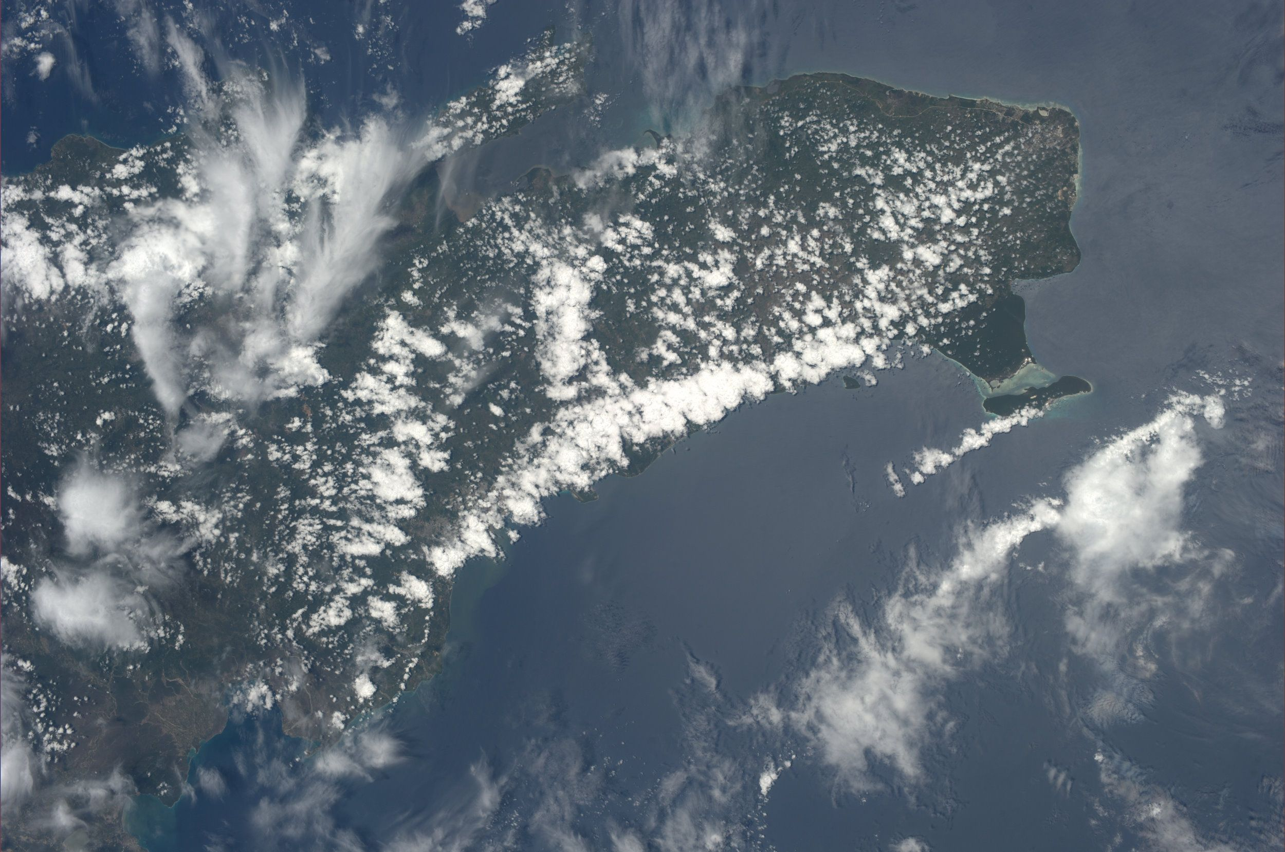 Dominican Republic.  KN from space.