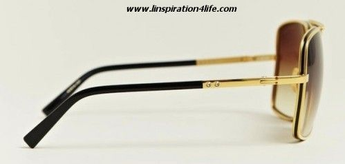 42a5b7f45284 Dita Baron 18 Karat Gold Matador Sunglasses