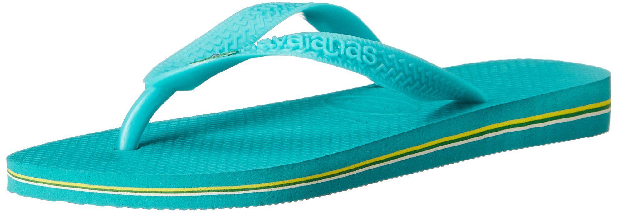 Havaianas Women's Brazil Sandal Flip Flop, Lake GreenLake