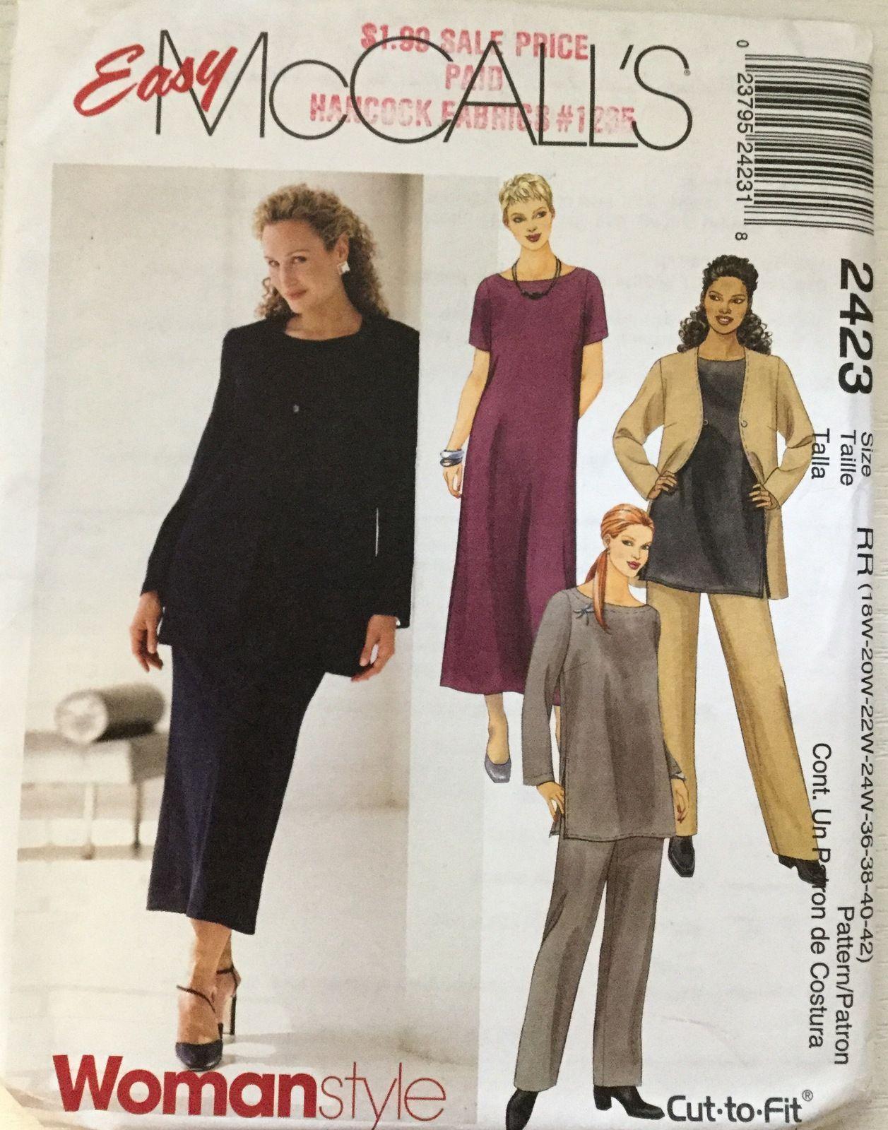 Mccallus missesu womanus style dress jacket top u pants size