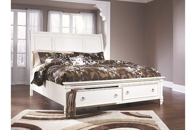 Prentice Queen Sleigh Bed With Storage Ashley Furniture Homestore Master Bedroom Set