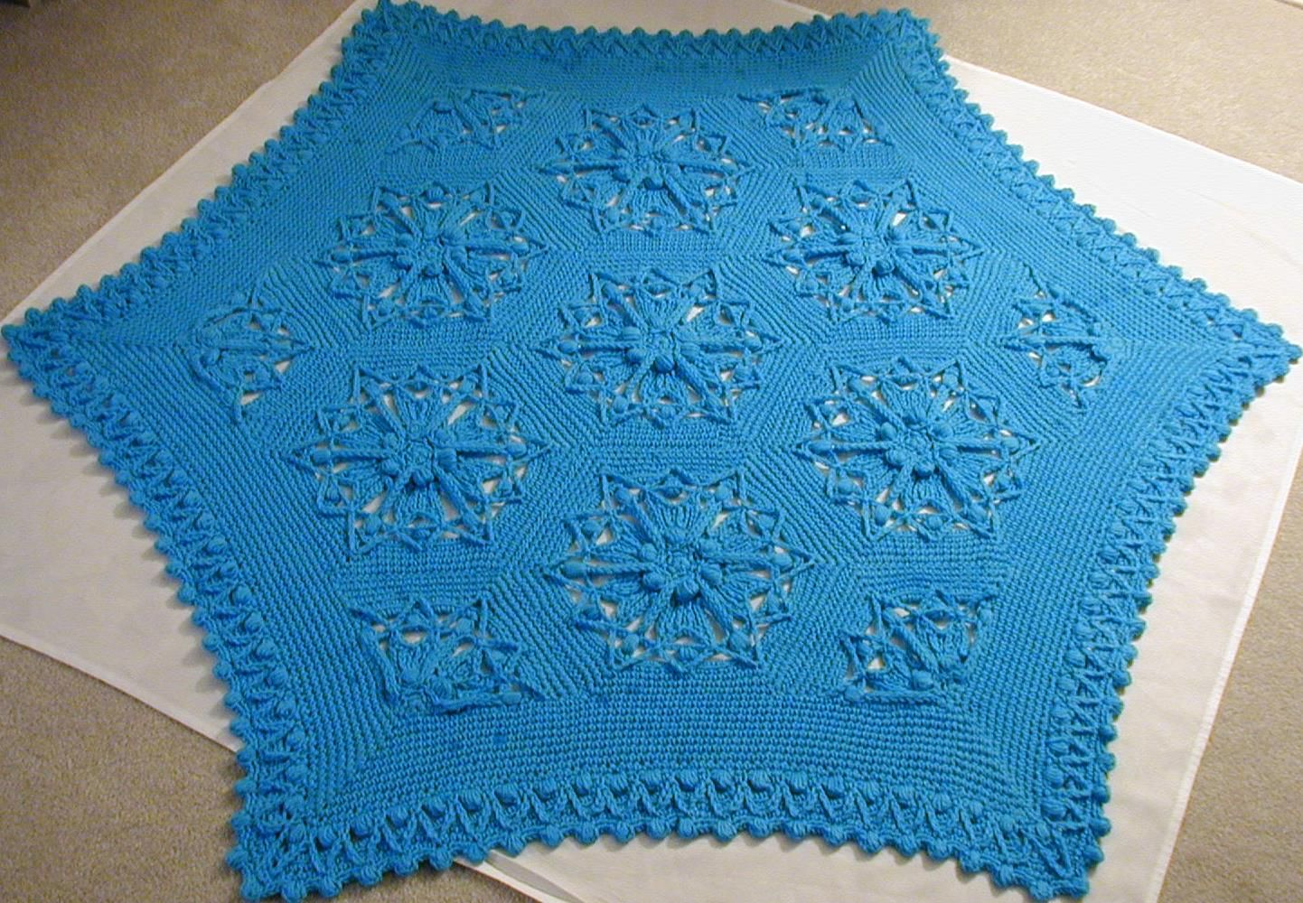 Hexed Crochet Medallion pattern at Skerin Knitting and Crochet dot com on the www