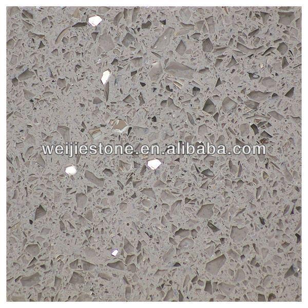 Light Grey Starlight Quartz Stone Crystal Countertops