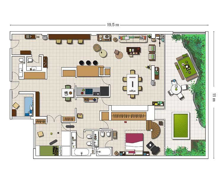 Una casa en la ciudad con patio en la ciudad patios y for Planos de casas con patio interior