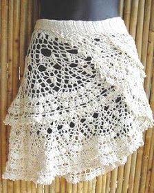 Patrones Crochet, Manualidades y Reciclado: MODELOS DE VESTIDOS Y FALDAS A CROCHET