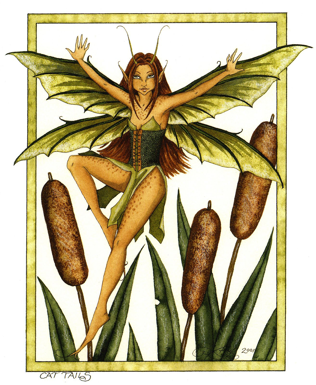 Fairy Art by Amy Brown - Cat Tails | hadas | Pinterest