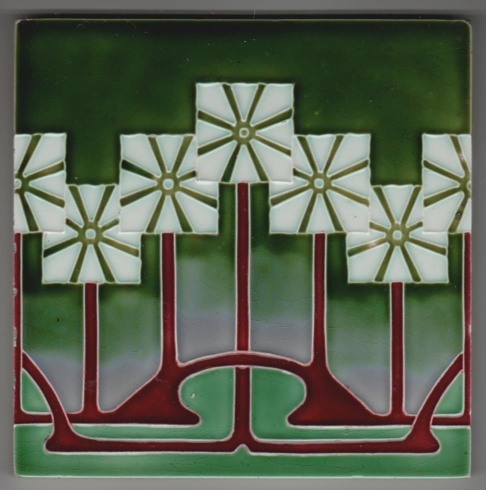 Details zu jugendstil fliese kachel art nouveau tile schmider lorbeerkranz laurel wreath - Art deco fliesen ...