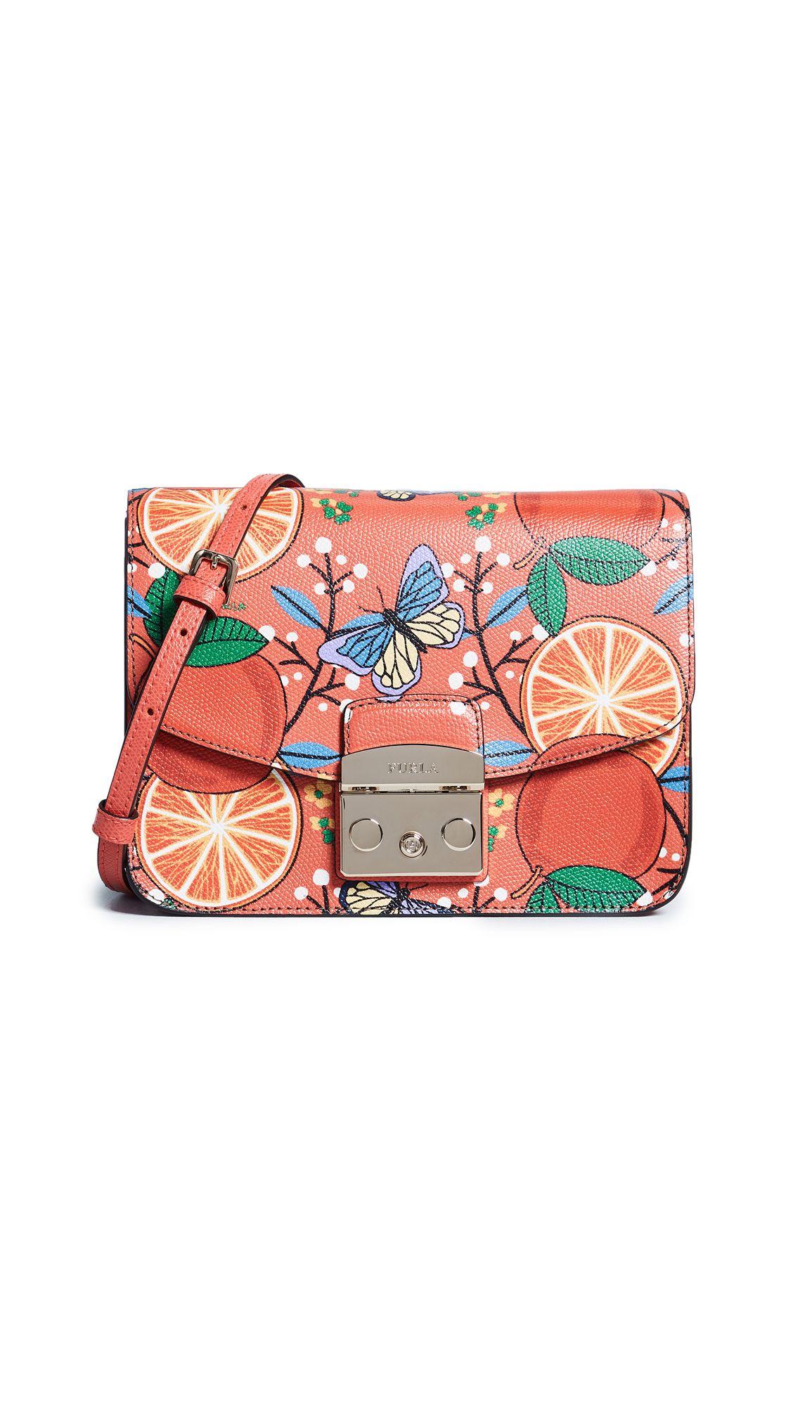 1f3059f55c FURLA METROPOLIS SMALL ORANGE CROSS BODY BAG. #furla #bags #shoulder bags #