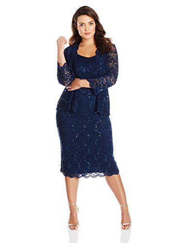 4c9dd1f82a Fashion Bug Plus Size Women's Plus-Size T-Length All Over Lace Jacket Dress,  Navy #FashionBug #PlusSize #wedding #dress www.fashionbug.us