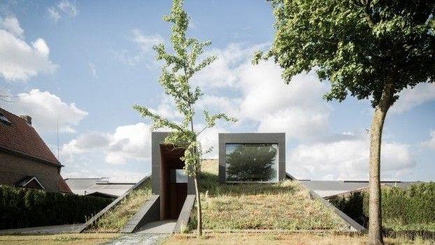 Dit moderne huis in belgië is gemaakt van rubber exterieur