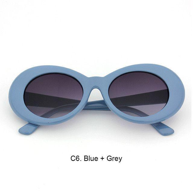 89b8cacea1736 Women Oval Sunglasses NIRVANA Kurt Cobain Sunglasses Men Vintage Retro  Female Male Sun Glasses