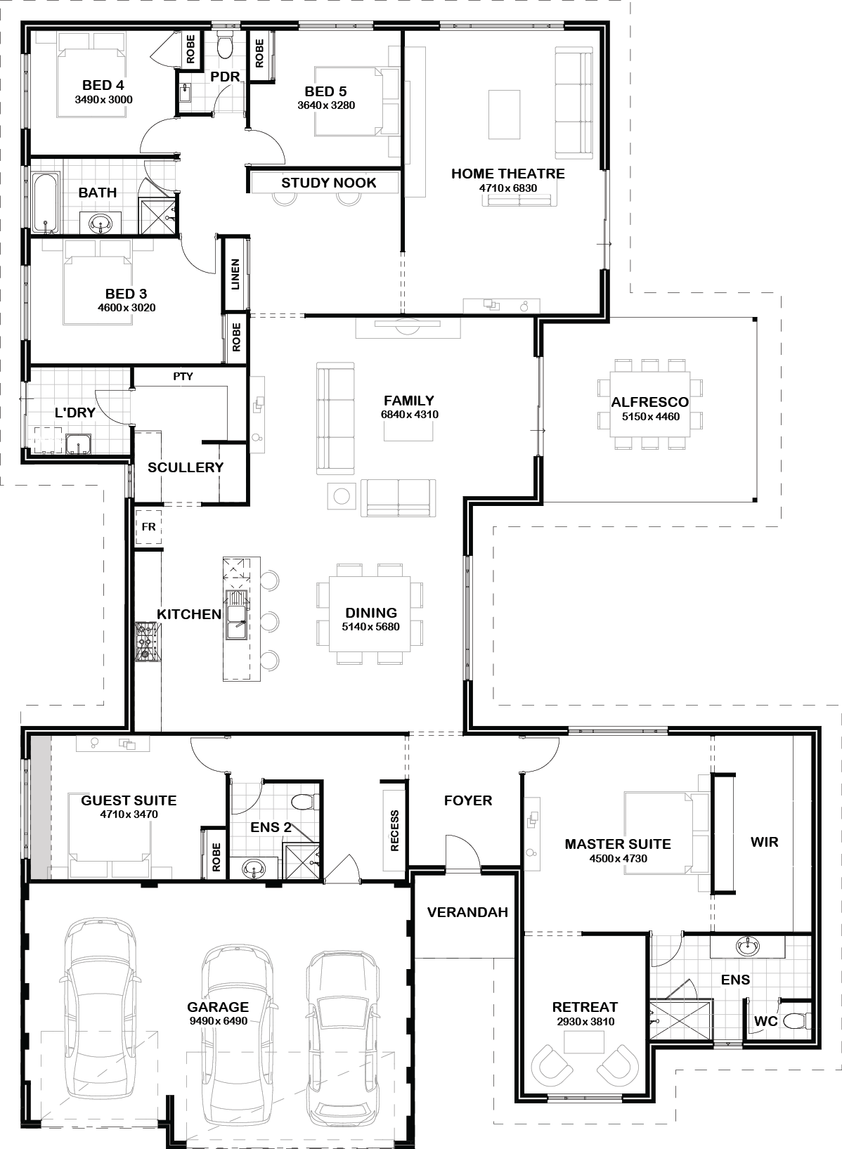 Floorplan House Floor Plans House Flooring Bedroom House Plans