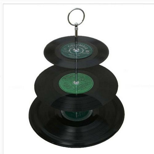 Record Cake Stand, Record Cake
