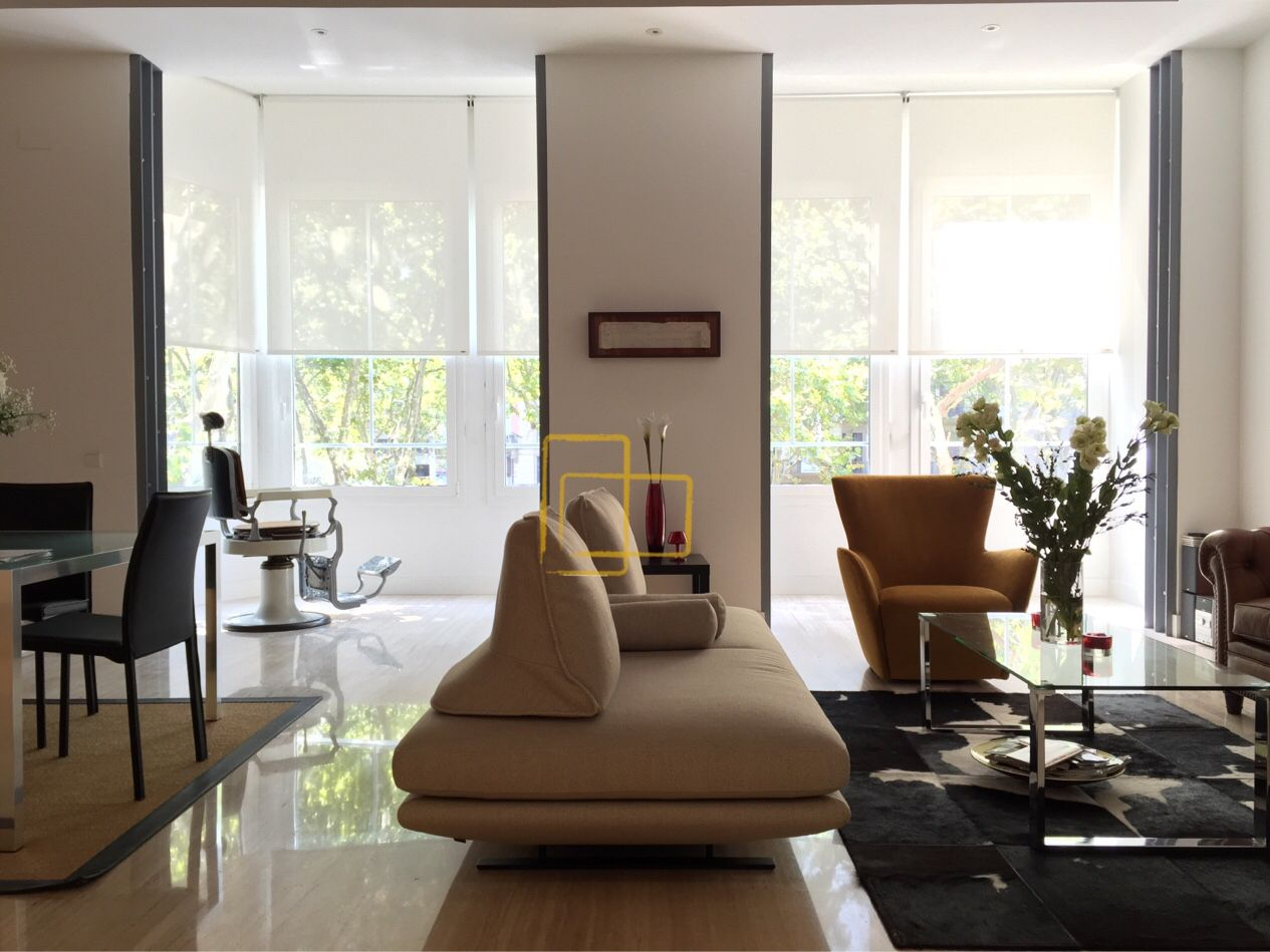 cortinas salon comedor enrollables estores decoracion solart screen - Estores Salon
