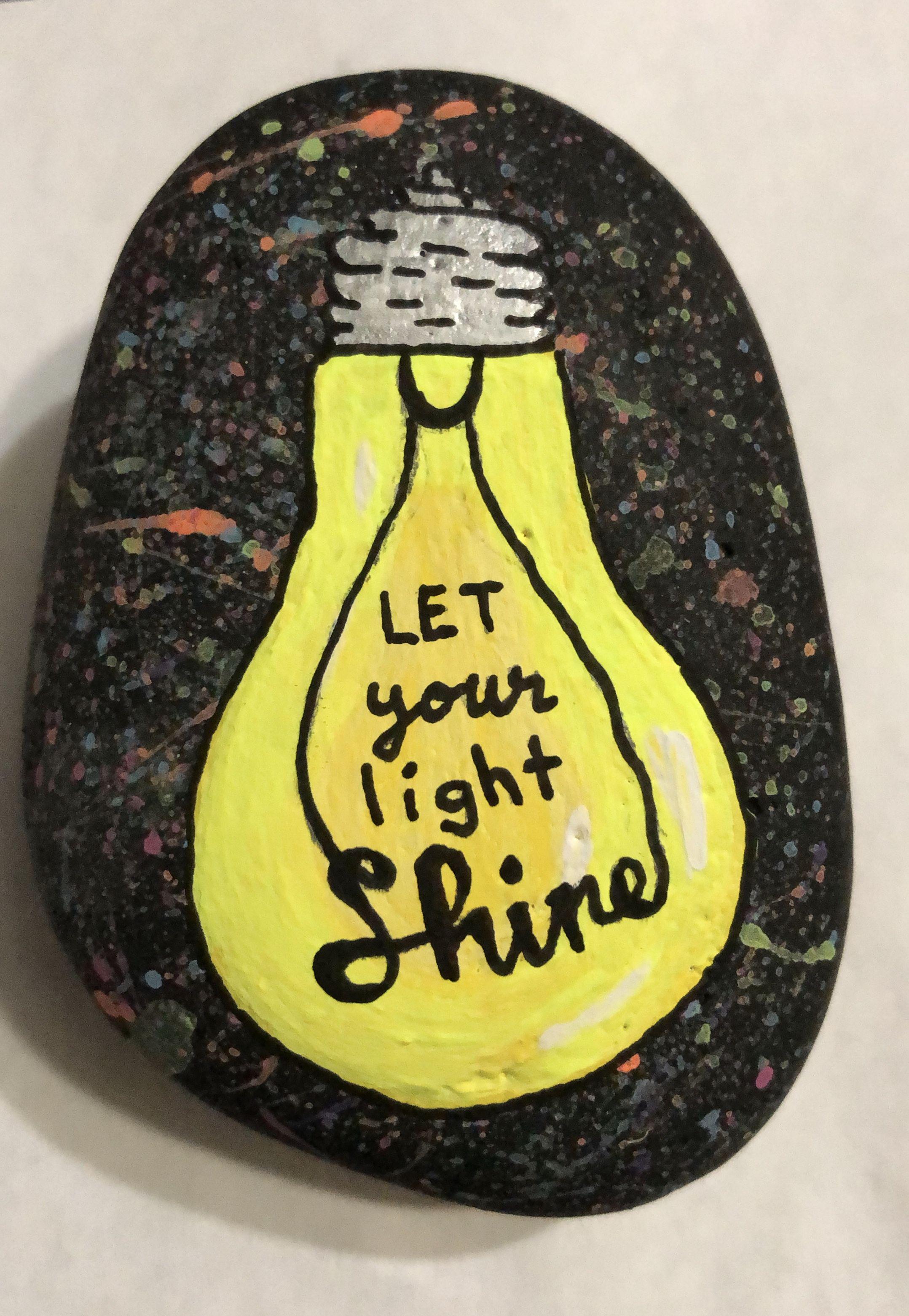 Painted Rocks Neon Paint Paint Splatter Light Bulb