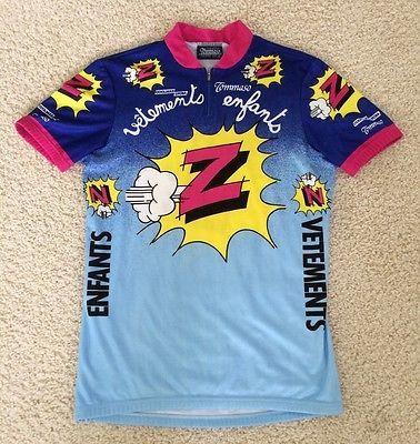 126ac7b64 Vintage 80 s vetements enfants lemond team z cycling jersey size 4 ...