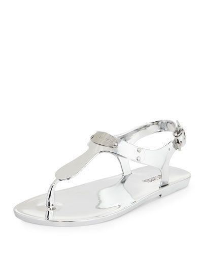 ed47e3920 X30VU MICHAEL Michael Kors MK Plate Jelly Flat Thong Sandal