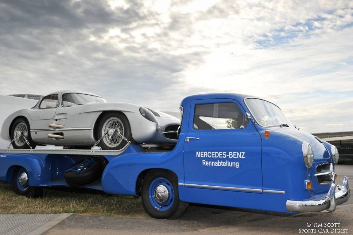 Mercedes Benz 300 Slr Takes A Ride On The Blue Miracle