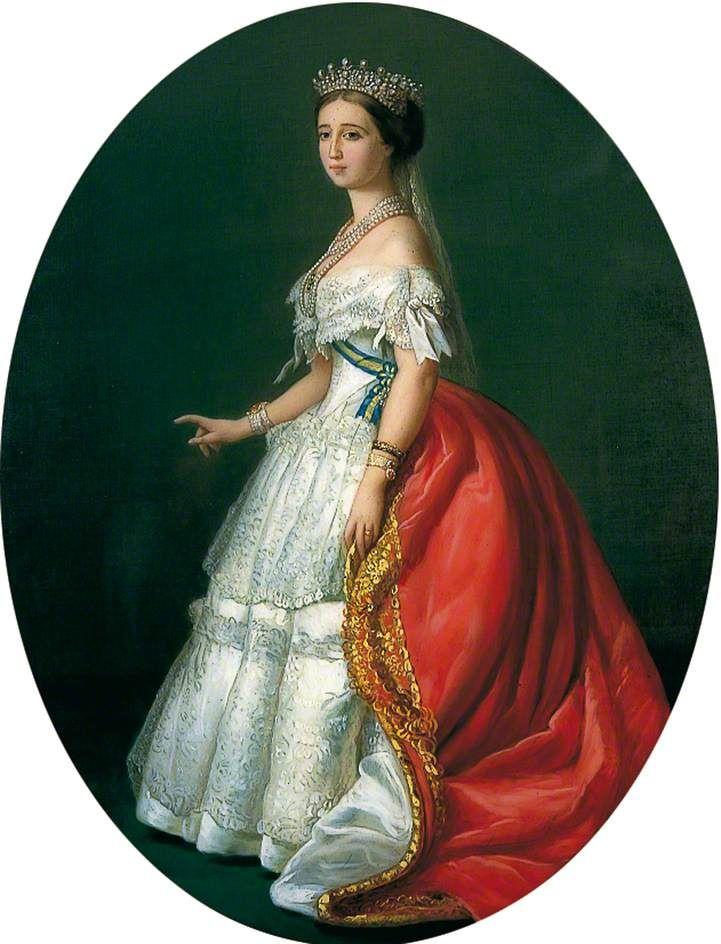 Franz Xaver Winterhalter (1805-1873) — The Empress Eugenie, 1850   (721x944)