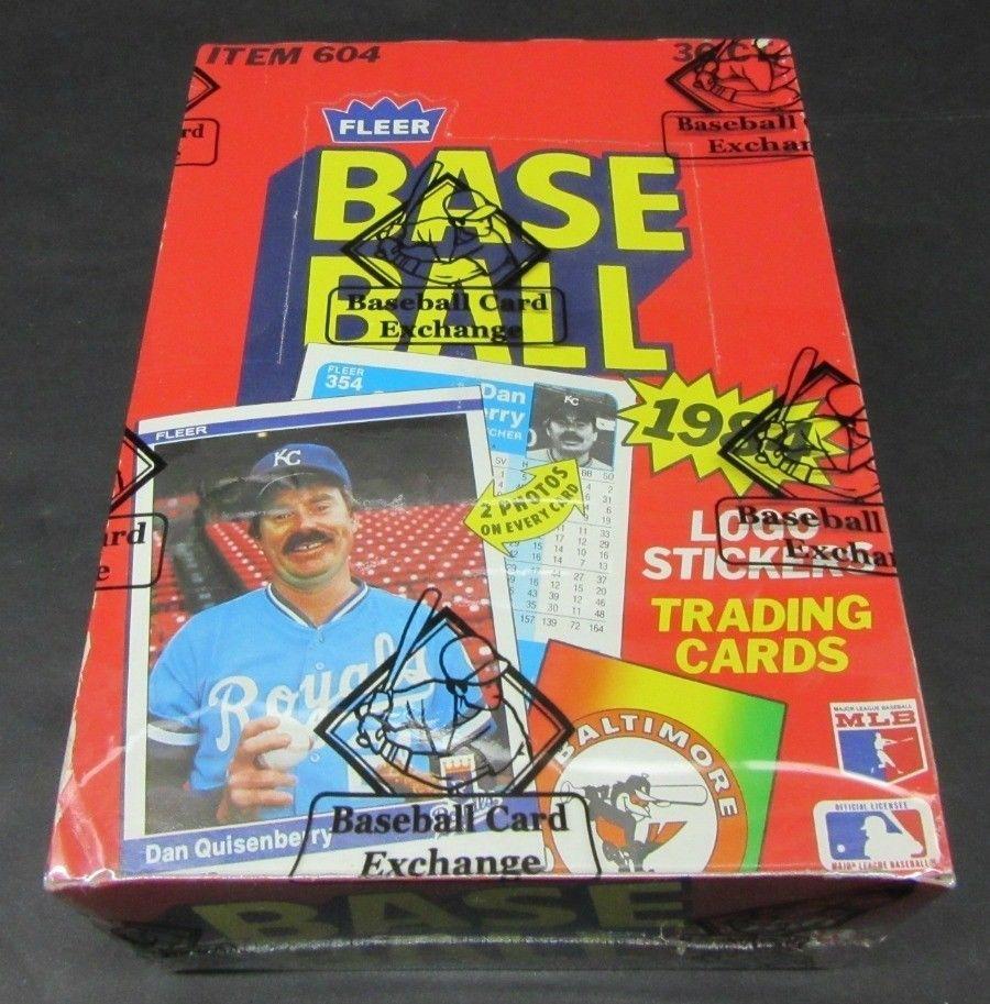 1984 fleer baseball unopened wax box bbce wrapped