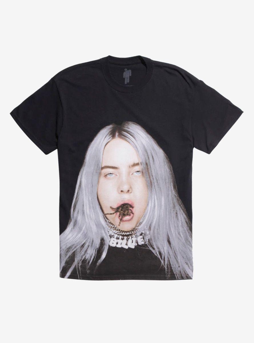 41ef457d Billie Eilish Tarantula Mouth T-Shirt in 2019   Products   Billie ...